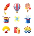 Carnival Icons Set vector image vector image