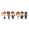 cartoon business men and women vector image vector image