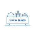 catering buffet or sunday brunch icon vector image