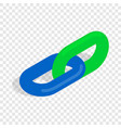 chain link isometric icon vector image