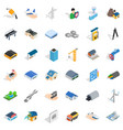 construction industry icons set isometric style vector image vector image