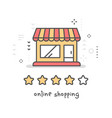 creative of red and yellow cartoon store building vector image