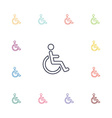 cripple flat icons set vector image