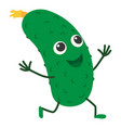 cucumber icon cartoon style vector image