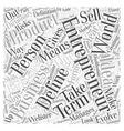 define entrepreneur Word Cloud Concept vector image vector image