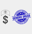 dotted medicine price icon and grunge vector image vector image