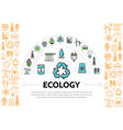 ecology and energy template vector image vector image