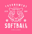 emblem softball tournament vector image vector image