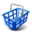 empty basket icon vector image vector image
