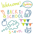 English text Back to school vector image vector image