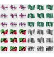 Faroe Islands Macau Saint Kitts and Nevis Brittany vector image vector image