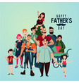 fathers day cartoon with group vector image