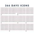 flat icons 366 days of the year vector image