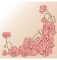 Floral background with hand draun flowers