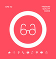 glasses symbol - search icon graphic elements for vector image