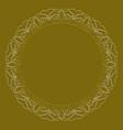 golden circle frame on dark golden background vector image vector image
