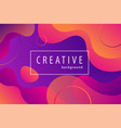 gradient color geometric background fluid shapes vector image vector image