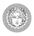 greek and roman god apollo helios vector image vector image