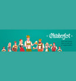 group of man and woman wearing german traditional vector image vector image
