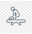 gymnastic concept linear icon isolated on vector image vector image