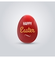 Happy easter realistic red egg isolated vector image vector image