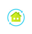 home rent icon on white vector image