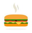 hot veggie burger vector image vector image