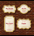 illuminated retro frames set with shining lights vector image vector image