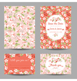 Invitation or Congratulation Card Set vector image vector image