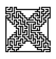 labyrinth maze game vector image vector image