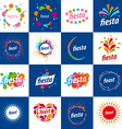large set of logos for holidays vector image