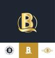 Letter B gold golden logo vector image vector image