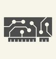 microchip solid icon circuit vector image