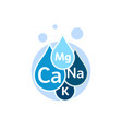 mineral water icon blue drops with mineral vector image vector image