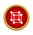 Molecular cube icon simple style vector image