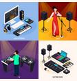 musicians life design concept vector image vector image