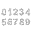 Numbers coloring book for adults vector image vector image