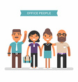 Office people in casual wear Colored flat isolated vector image