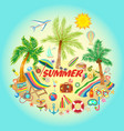on a summer holiday theme with vector image