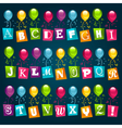party alphabet with balloons vector image vector image