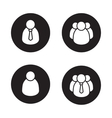 People black icons set vector image