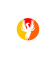 phoenix logo design template vector image vector image
