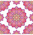 Pink pattern with mandalas vector image