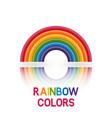 rainbow symbol six colors vector image vector image