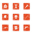 sci icons set grunge style vector image