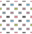 seamless pattern with raccoons with sunglasses vector image vector image