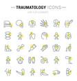 set line icons traumatology vector image vector image