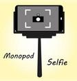 smart phone monopod for selfie vector image vector image