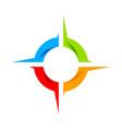 social compass wheel symbol logo design vector image vector image