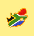 south africa - map colored with south african flag vector image vector image